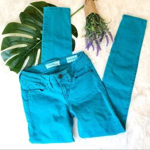 Guess | Brittney ankle skinny colored aqua jeans